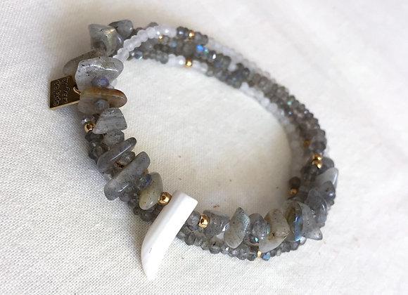 Bracelet ou collier TERRA labradorite