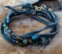 bracelet PENELOPE kaki de by fleur de Jade