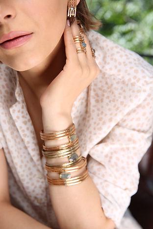 bracelet, bague & boucles d'oreille MOORE de by fleur de Jade