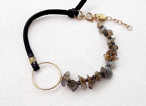 bracelet DYHIA cuir noir