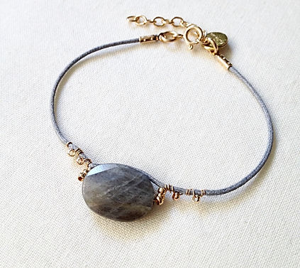 bracelet gris souris Labradorite de by fleur de Jade