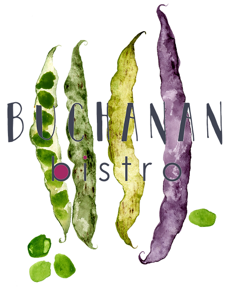 Buchanan Bistro watercolour bean logo