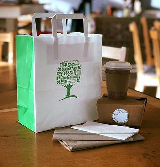 Buchanan Bistro restaurant Compostable takeaway boxes