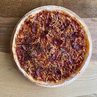 Salami pizza takeaway restaurant banchory