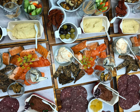 Aberdeenshire wedding catering sharing boards