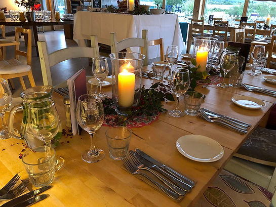 Buchanan bistro restaurant table setting for lunchtime bookings