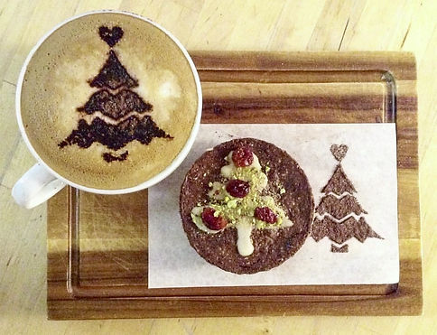 Festive coffee and treats at the bistro