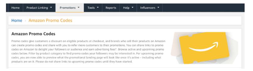 Amazon Affiliate promo code