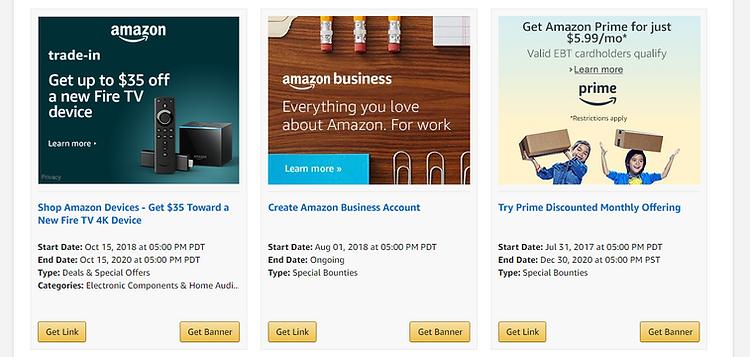 Amazon Affiliates Promotions