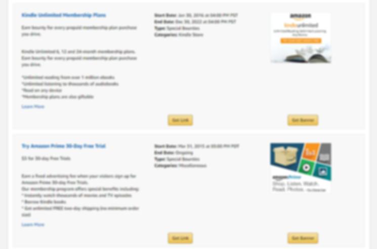 Amazon Affiliate Bounty