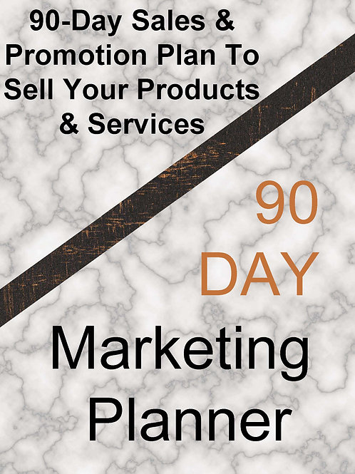 90-Day Sales & Promotion Marketing Planner