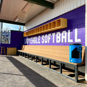CHS Softball Cinder Block Wall Wrap