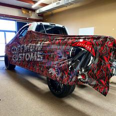Coffman Customs Truck Wrap