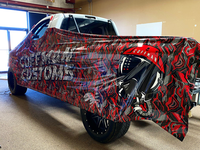 Coffman Customs Truck Wrap