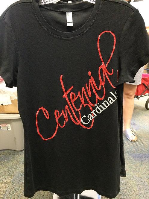 Black Ladies Glitter T-shirt