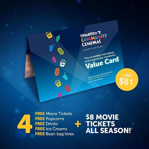 Telethon Community Cinemas Value Cards