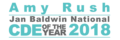 2018 Amy Rush CDE of the Year Signature