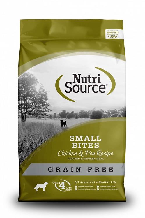 Nutri Source Chicken Small Bites Grain Free Dog Food
