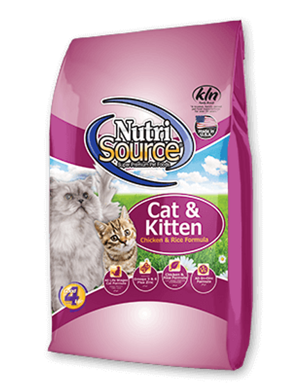 Nutri Source Cat & Kitten Chicken and Rice Cat Food