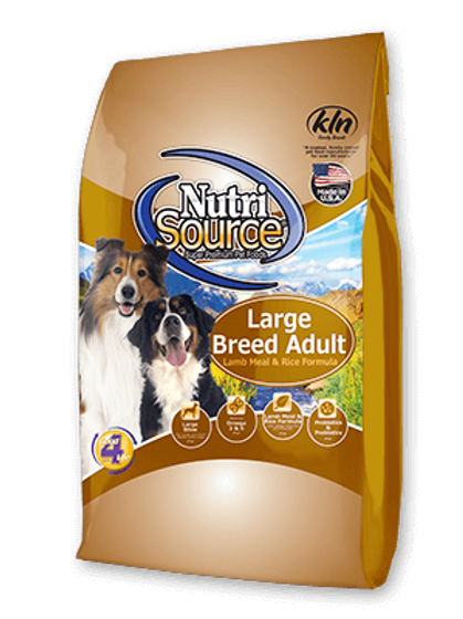 Nutri Source Adult Large Breed Lamb/Rice Dog Food