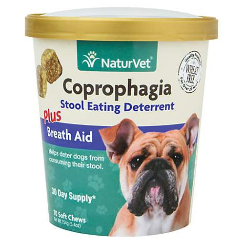 Naturvet Coprophagia Stool Eating Deterrent with Breath Aid