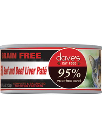 Dave's Grain Free 95% Meat Canned Cat Food 5.5oz