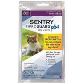 Sentry FiproGuard Flea & Tick Squeeze-On for Cats