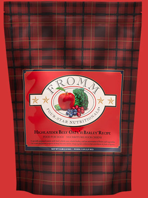 Fromm 4 Star Highlander Beef, Oats n'Barley