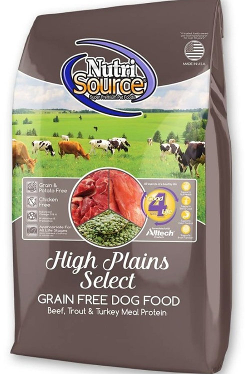 Nutri Source High Plains Grain Free Dog Food