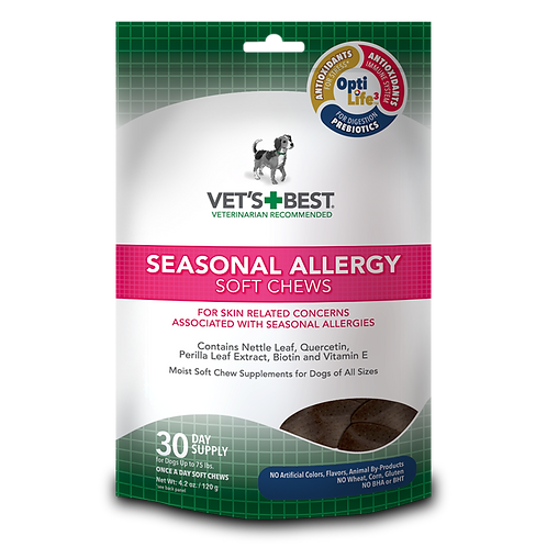 Vets Best Seasonal Allergy Soft Chew 4.2oz