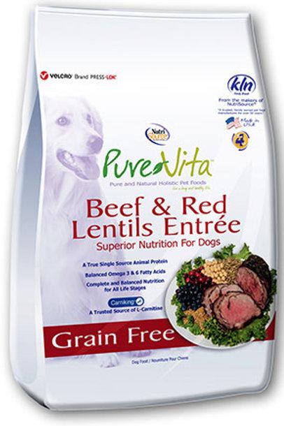 PureVita Beef & Red Lentils Grain Free Dog Food