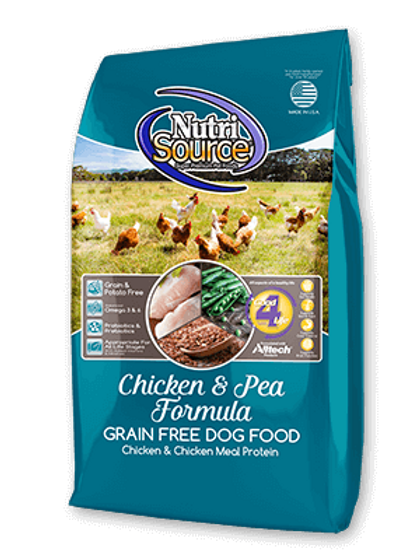 Nutri Source Chicken & Pea Grain Free Dog Food