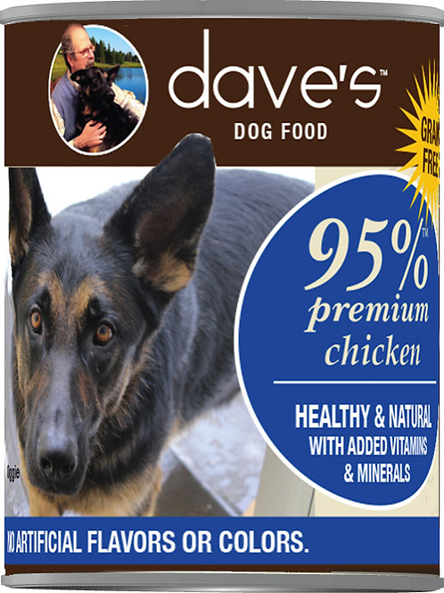 Dave's 95% Meat Canned Grain Free Dog Food