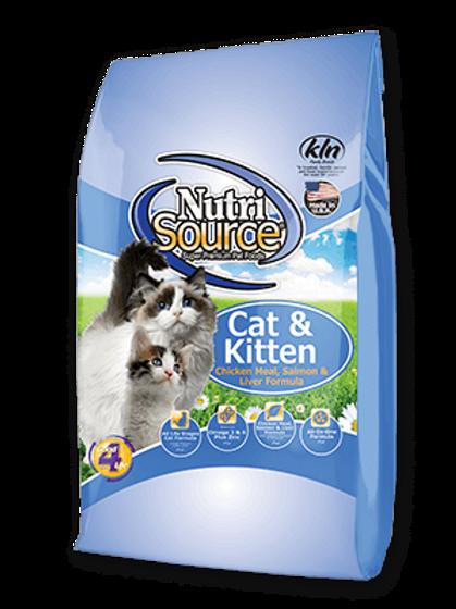 Nutri Source Cat & Kitten Chicken, Salmon & Liver Cat Food