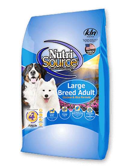 Nutri Source Large Breed Adult Chicken & Rice Dog Food