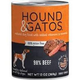 Hound & Gatos Canned Dog Food Beef 13 oz