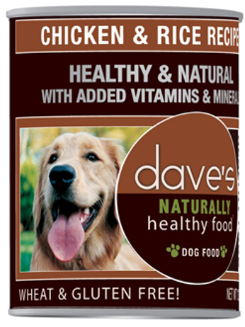 Dave's Chicken & Rice Canned Dog Food 13oz