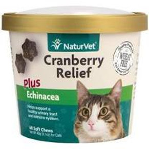 NaturVet Cat Cranberry Relief Supplement - 60 count