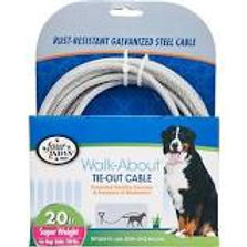 Four Paws Super Weight Tie Out Cable 20ft