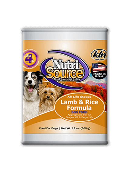 Nutri Source Canned Dog Food 13oz