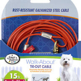 Four Paws Puppy Tie Out Cable 15-ft