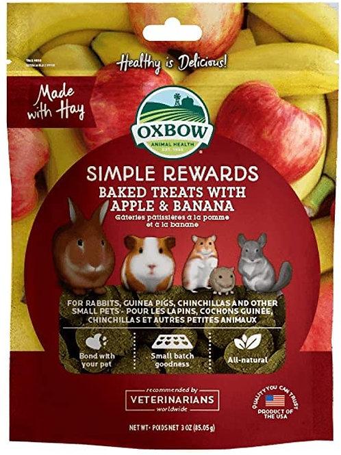 Oxbow Simple Rewards Baked Treats Apple/Banana