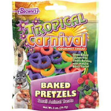 Tropical Carnival Baked Pretzel Small Animal Treats - 2oz