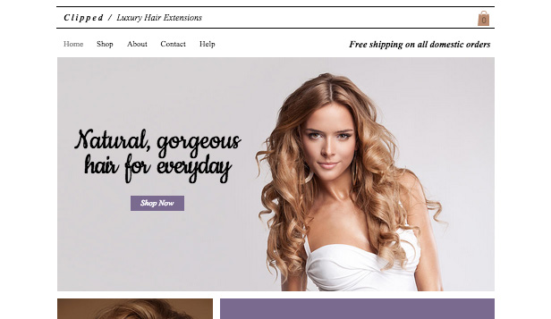 Health & Beauty website templates – Luxury Hair Extensions