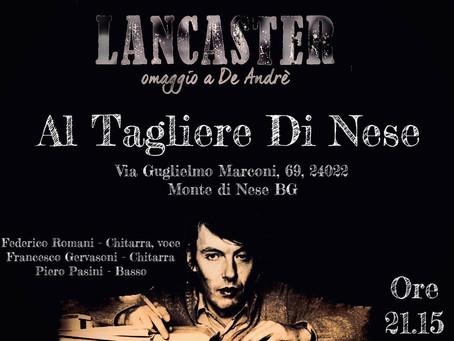 """18 Febbraio h 21.15 """"Lancaster"""""""