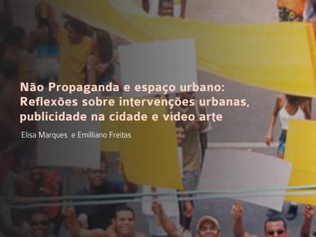 Não propaganda e espaço urbano