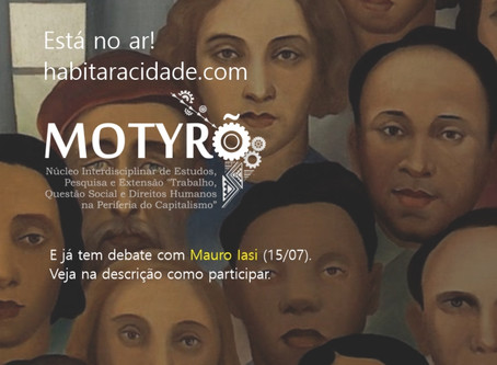 [Está no ar] Motyrõ promove debate com Mauro Iasi