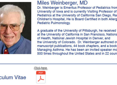 """Acute cough cured with the Weinberger Procedure """"by proxy""""? Why, yes indeed!"""