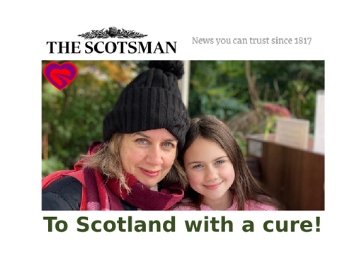 The Scotsman Newspaper - Tess Cured in Mere Minutes, After 1 Year of Mystery Horror Cough