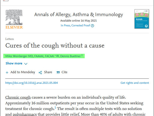Cures of the Cough without a Cause (Yes!)